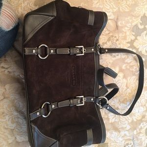 Coach Suede & Leather Bag